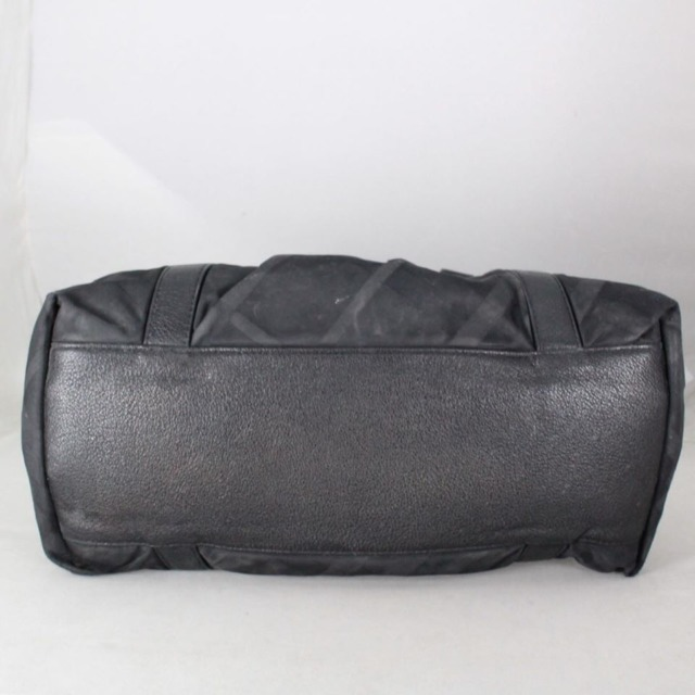 BURBERRY 20977 Black Checker Nylon Satchel h