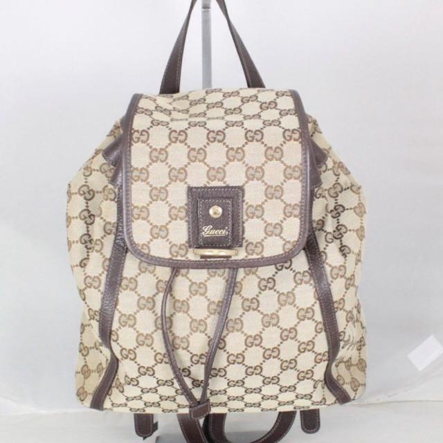 GUCCI 21016 Tan Guccissima Logo Backpack a
