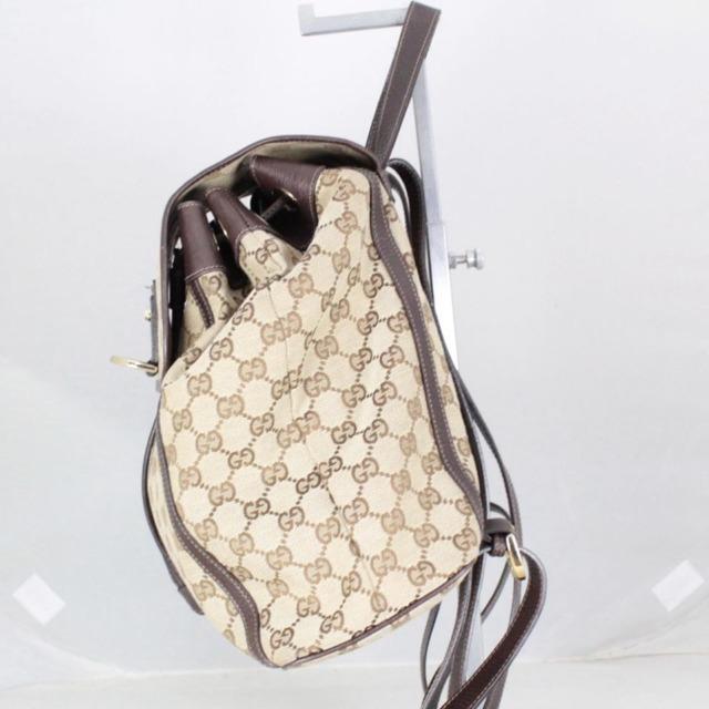 GUCCI 21016 Tan Guccissima Logo Backpack b