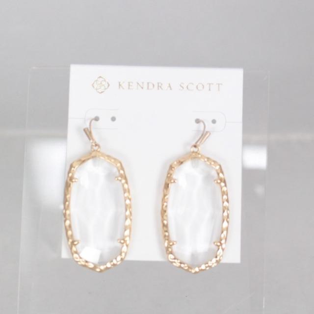 KENDRA SCOTT 21031 Clear Drop Earrings a