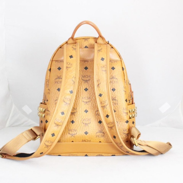 MCM 21038 Tan Leather Backpack c