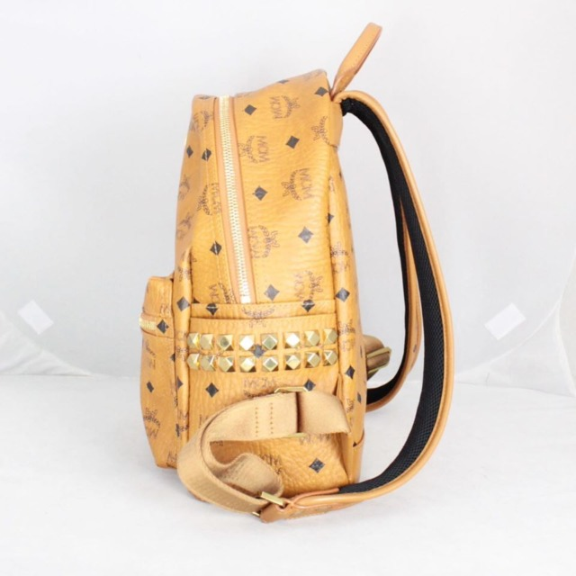 MCM 21038 Tan Leather Backpack d