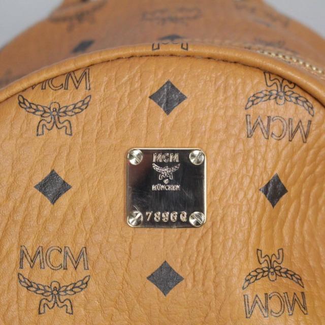 MCM 21038 Tan Leather Backpack e