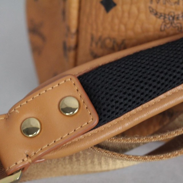 MCM 21038 Tan Leather Backpack i
