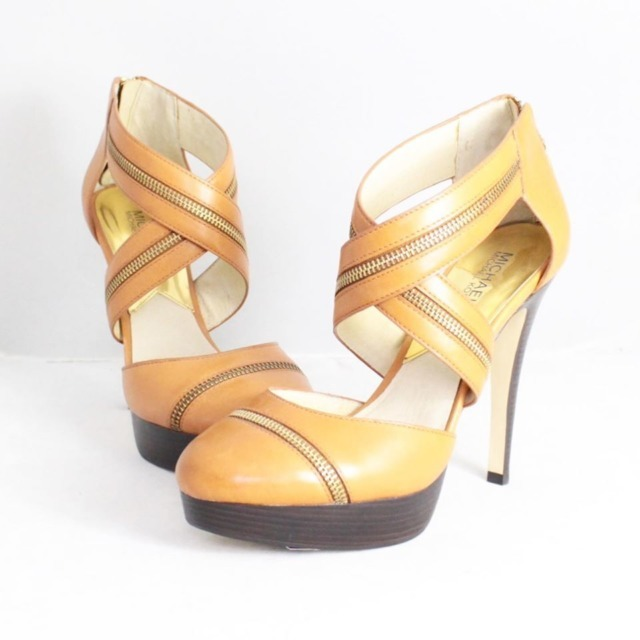 MICHAEL KORS Tan Platform Heels Size US 9.5 Eur 39.5 21325 a
