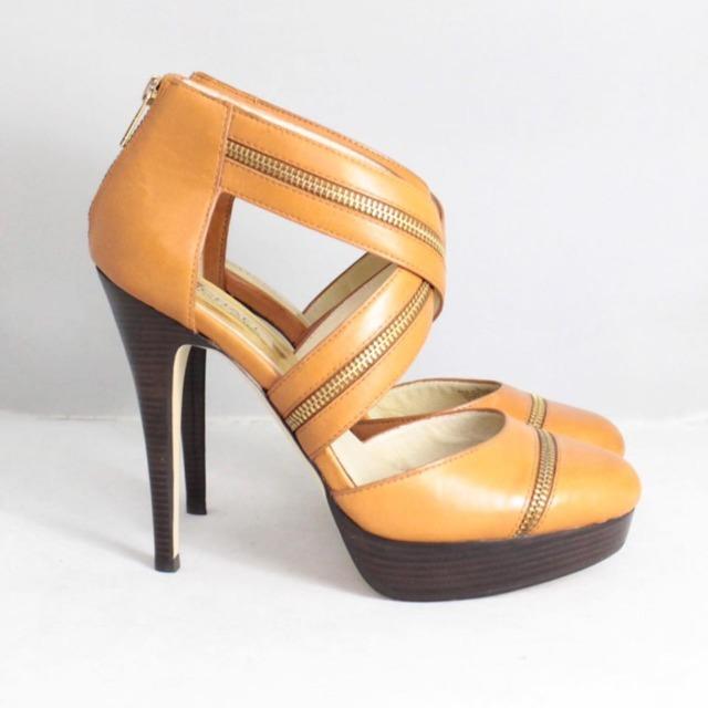 MICHAEL KORS Tan Platform Heels Size US 9.5 Eur 39.5 21325 c