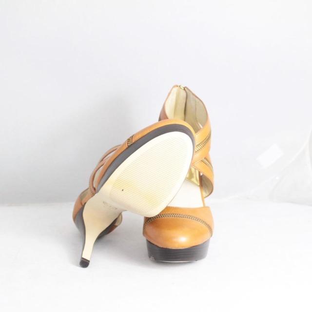 MICHAEL KORS Tan Platform Heels Size US 9.5 Eur 39.5 21325 e