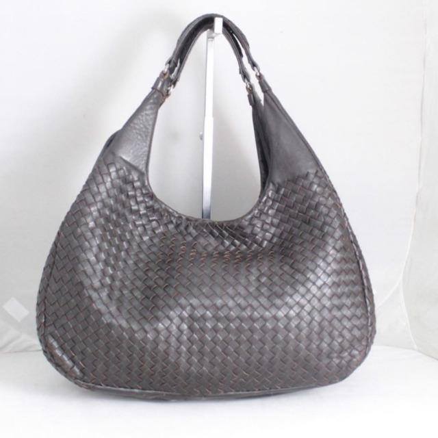 BOTTEGA VENETA Brown Leather Shoulder Bag 21398 a