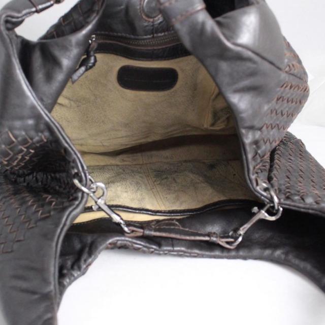 BOTTEGA VENETA Brown Leather Shoulder Bag 21398 b