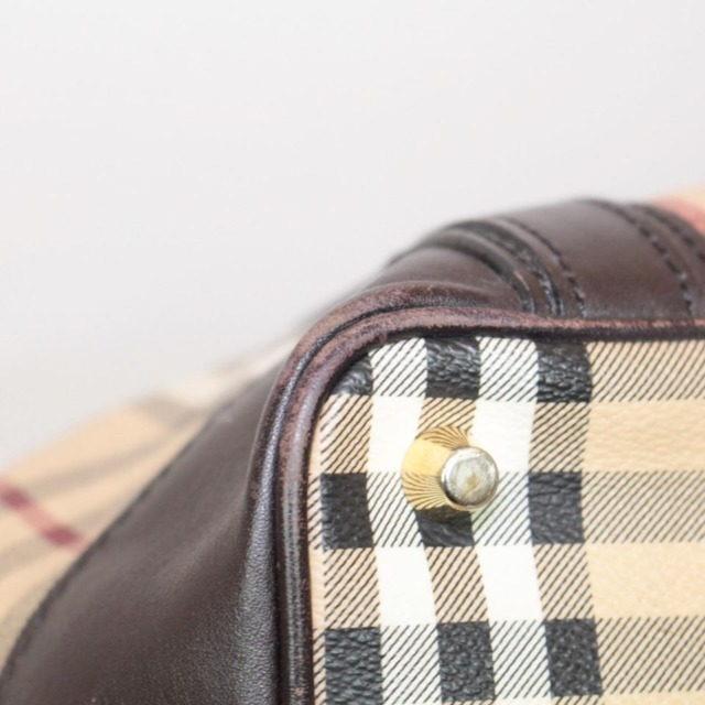 BURBERRY Brown Checker Tote Crossbody 21920 b