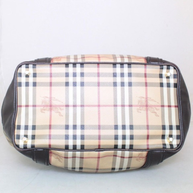 BURBERRY Brown Checker Tote Crossbody 21920 d