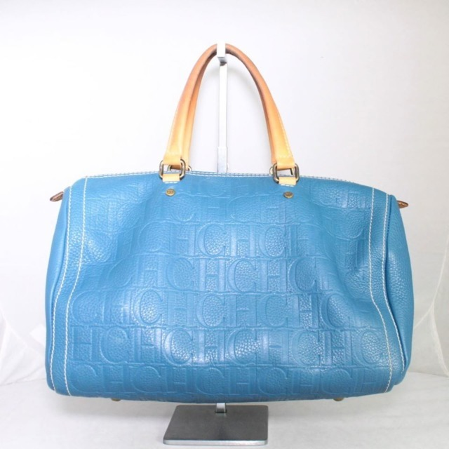 CAROLINA HERRERA Blue Leather Andy 10 21377 a