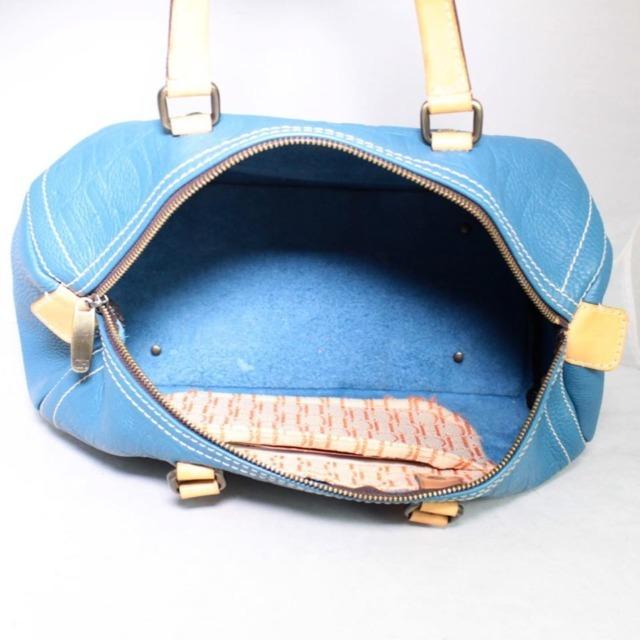CAROLINA HERRERA Blue Leather Andy 10 21377 e