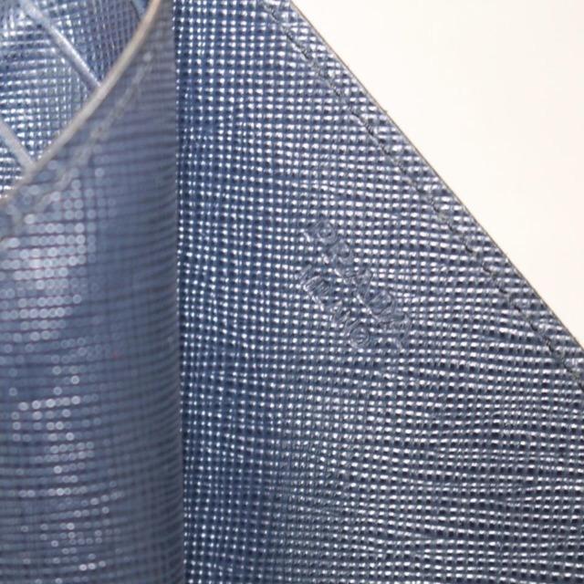 PRADA Navy Blue Leather Card Holder 21994 b