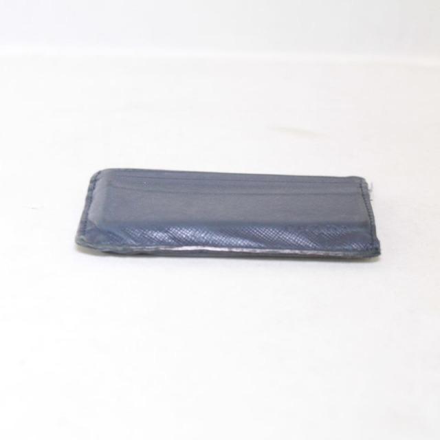 PRADA Navy Blue Leather Card Holder 21994 c