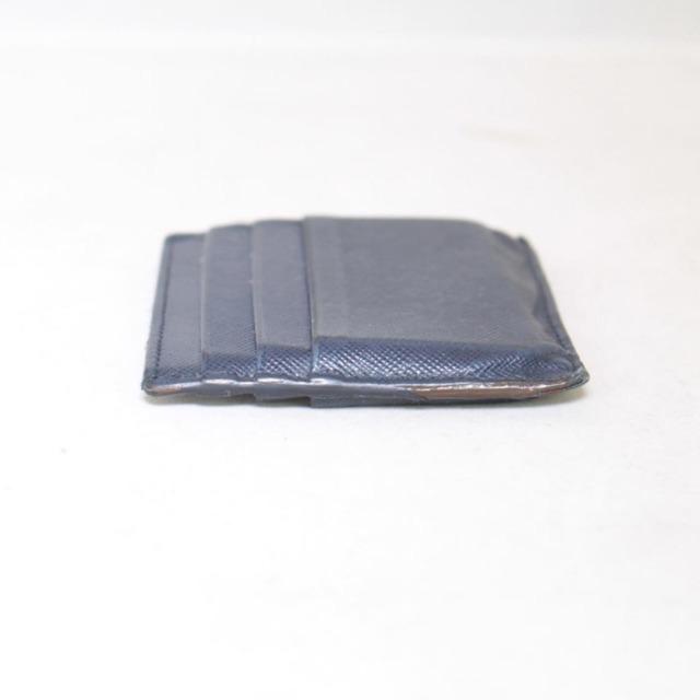 PRADA Navy Blue Leather Card Holder 21994 d