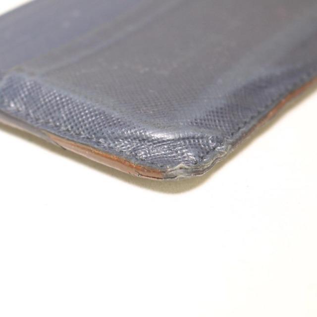 PRADA Navy Blue Leather Card Holder 21994 e