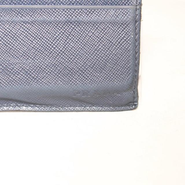PRADA Navy Blue Leather Card Holder 21994 f