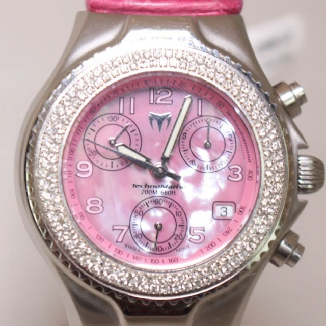 TECHNOMARINE Pink Strap Diamonds Encrusted Watch 21963 a
