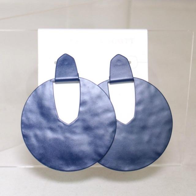 KENDRA SCOTT Navy Blue Statement Earrings 17697 a