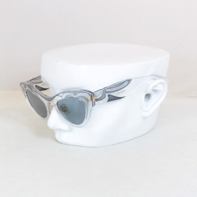 MIU MIU Grey Cat Eye Blue Sunglasses 21353 a