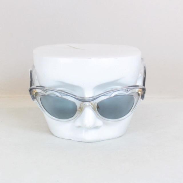 MIU MIU Grey Cat Eye Blue Sunglasses 21353 c