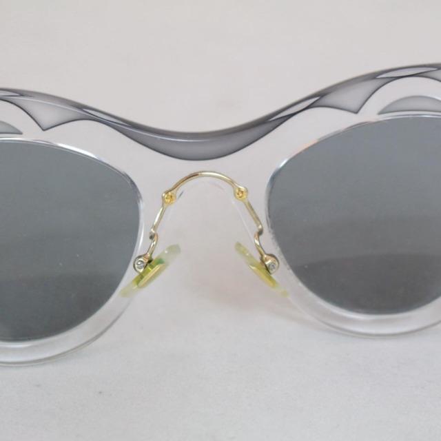 MIU MIU Grey Cat Eye Blue Sunglasses 21353 d