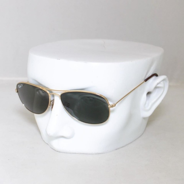 RAY BAN Polarized Cockpit Sunglasses 7144 a