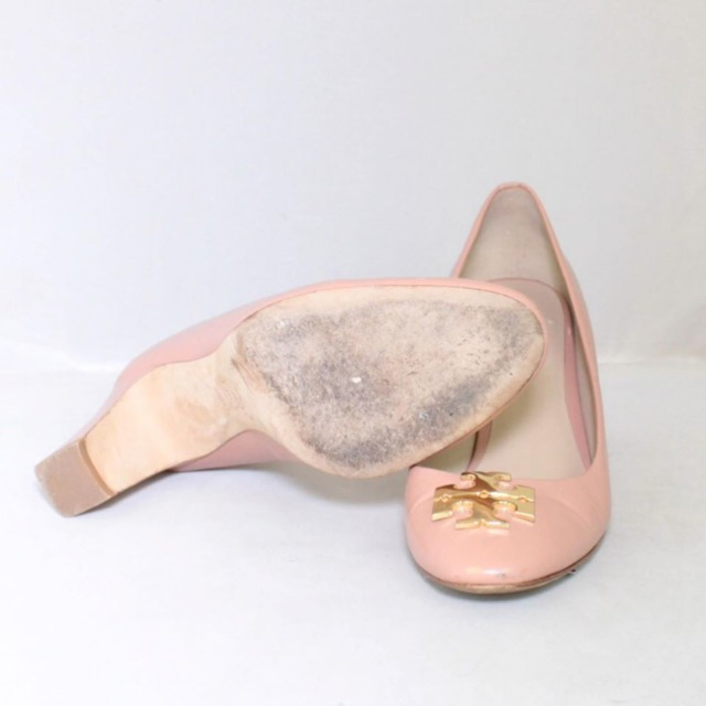 TORY BURCH Nude Close Toe Heels Size US 8.5 Eur 38.5 21996 b