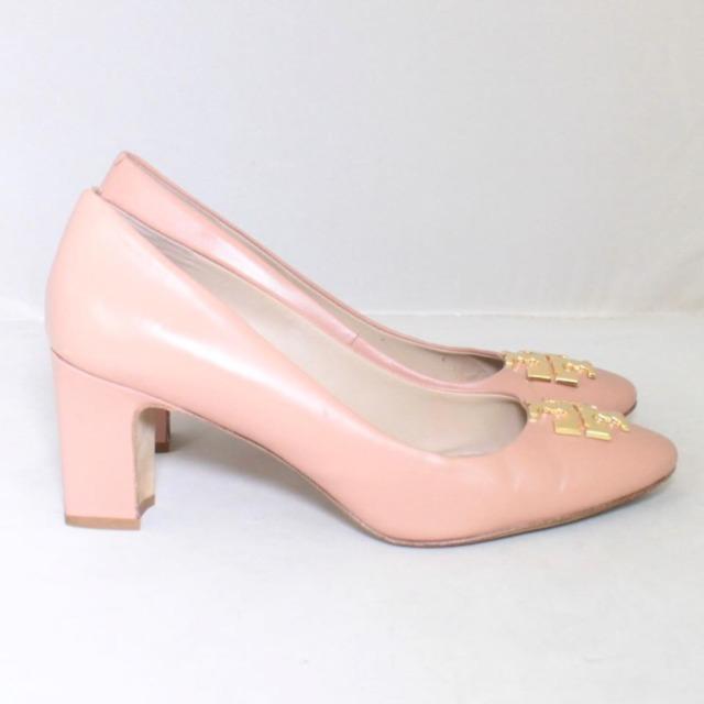 TORY BURCH Nude Close Toe Heels Size US 8.5 Eur 38.5 21996 c