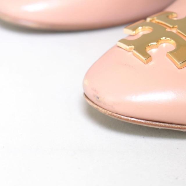 TORY BURCH Nude Close Toe Heels Size US 8.5 Eur 38.5 21996 d