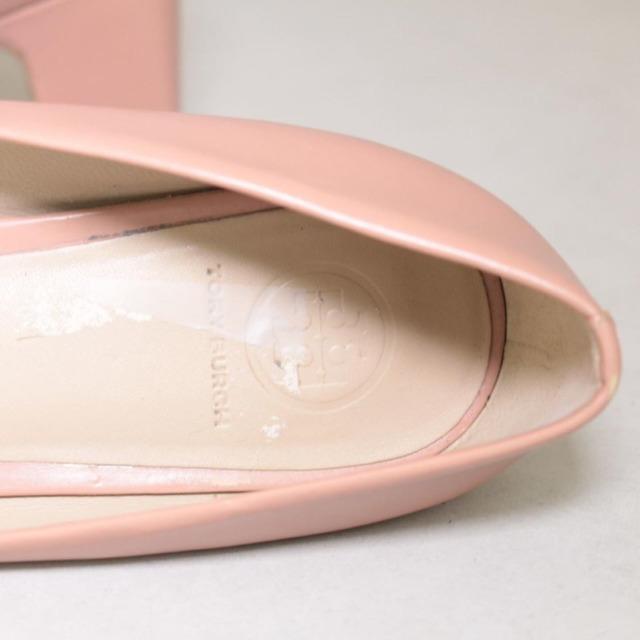TORY BURCH Nude Close Toe Heels Size US 8.5 Eur 38.5 21996 f