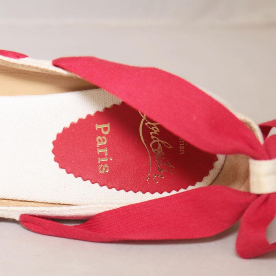 CHRISTIAN LOUBOUTIN Red Ibiza Espadrille Wedges Size USA 9 Euro 39 23073 e