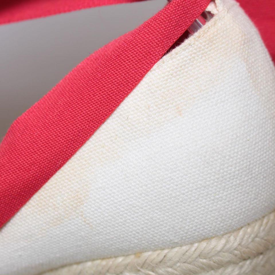 CHRISTIAN LOUBOUTIN Red Ibiza Espadrille Wedges Size USA 9 Euro 39 23073 h