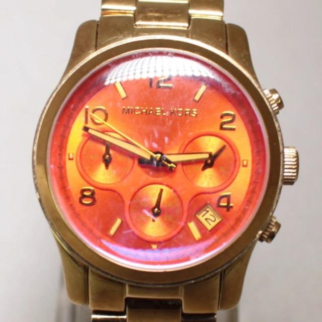MICHAEL KORS Gold Tone Iridescent Glass Watch 22845 a