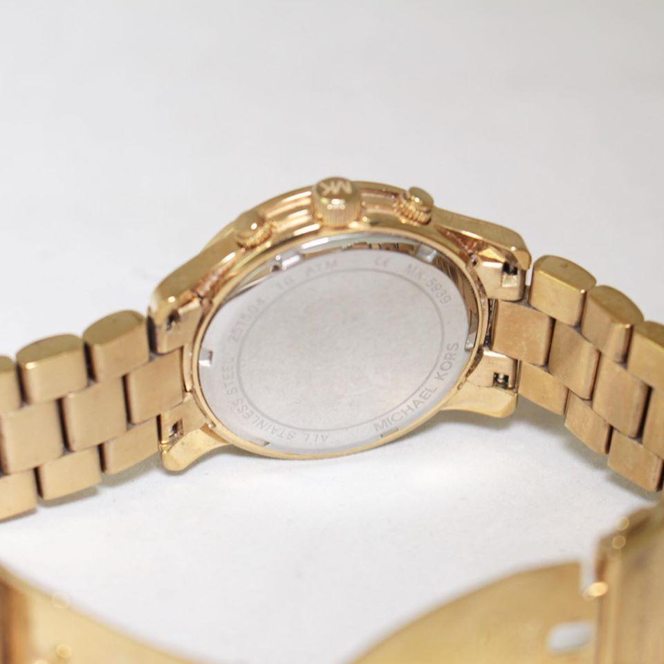 MICHAEL KORS Gold Tone Iridescent Glass Watch 22845 c
