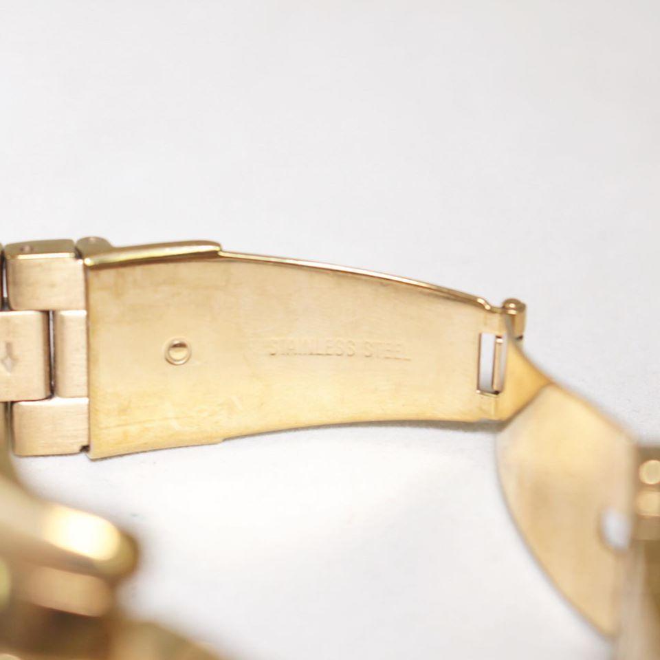 MICHAEL KORS Gold Tone Iridescent Glass Watch 22845 d