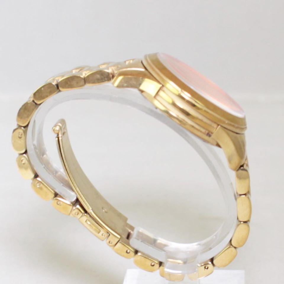 MICHAEL KORS Gold Tone Iridescent Glass Watch 22845 e