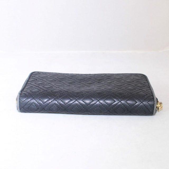 TORY BURCH Black Fleming Zip Continental Wallet 18345 c