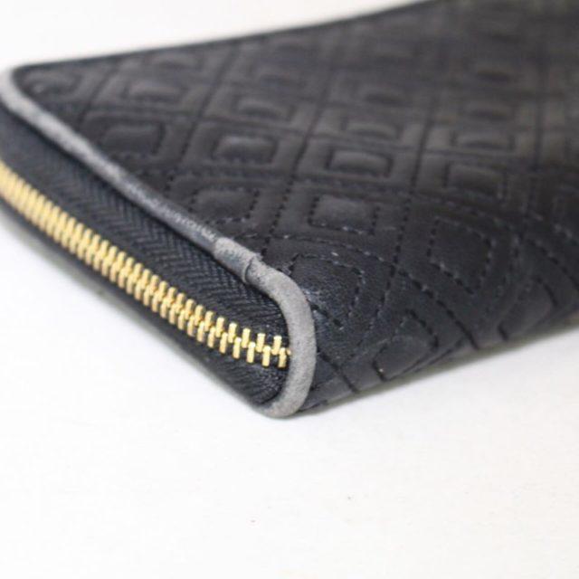 TORY BURCH Black Fleming Zip Continental Wallet 18345 d