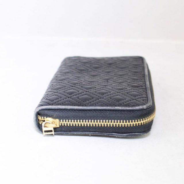 TORY BURCH Black Fleming Zip Continental Wallet 18345 e