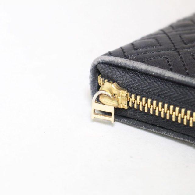 TORY BURCH Black Fleming Zip Continental Wallet 18345 f