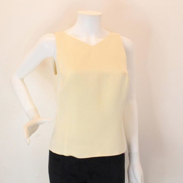 ARMANI Collection Beige Halter Top Size 8 23165 a
