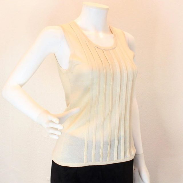 ARMANI Collection Beige Tank Top Size 6 23157 a