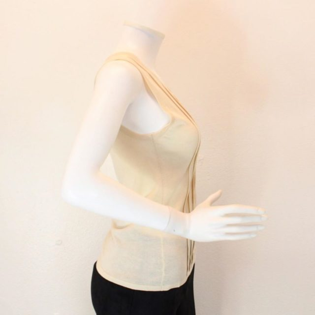 ARMANI Collection Beige Tank Top Size 6 23157 d