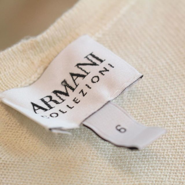 ARMANI Collection Beige Tank Top Size 6 23157 e