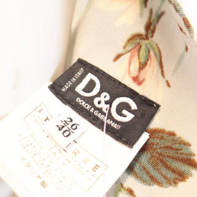DOLCE GABBANA Light Blue Floral Midi Dress Size USA 6 Euro 36 23148 f