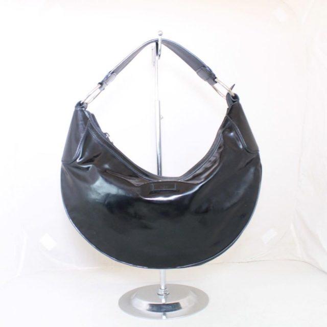 GUCCI Black Patent Leather Shoulder Bag 23198 a