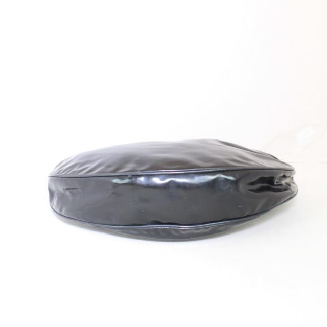 GUCCI Black Patent Leather Shoulder Bag 23198 b