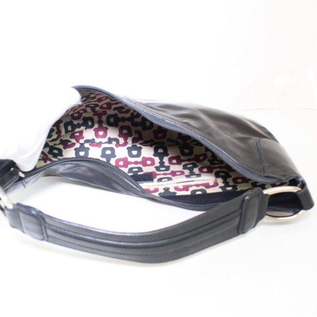 GUCCI Black Patent Leather Shoulder Bag 23198 c